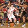 Erica Galvin/NEWS<br /> Mohawk's Devon Giancola dribbles through the Beaver Falls defense in the second half.