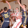 Erica Galvin/NEWS<br /> Tyler Haswell goes up for a shot against the Shenango defense.