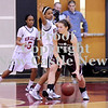 Courtney Caughey-Stambul/NEWS<br /> New Castle's Velvet Wade guards Ambridge's Kelly Haslett.