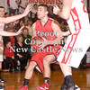Erica Galvin/NEWS<br /> Vince Menichino drives to the hoop in the first quarter.