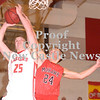 Erica Galvin/NEWS<br /> Mohawk's Ryan Sager fouls Neshannock's Tyler Haswell in the fourth quarter.