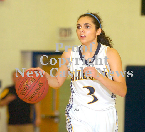 Erica Galvin/NEWS<br /> Freshman guard Angelina Sibeto calls a play to her teammates in the first quarter.