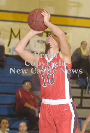 Erica Galvin/NEWS<br /> Neshannock's Cassidy Burrelli (FYI SHE AND HER SISTER SWITCHED NUMBERS JUST FOR TONIGHT... UGH.) shoots a lay-up in the third quarter.