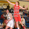 Erica Galvin/NEWS<br /> Shenango's Amanda Herb waits for the perfect shot as Neshannock's Madison McHale defends.