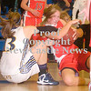 Erica Galvin/NEWS<br /> Neshannock's Alexandra Fischer and Shenango's Samantha Seaburn fight for a rebound in the first half.