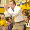 Erica Galvin/NEWS<br /> Wilmington head coach Mike Jeckavitch celebrates as his team chips away Sharpsville's lead in the second half.
