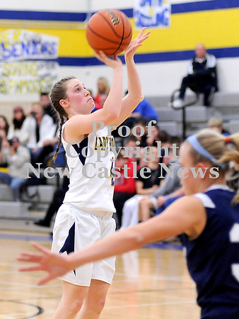 Courtney Caughey-Stambul/NEWS<br /> Cassidy Marett shoots a jumper for Wilmington.