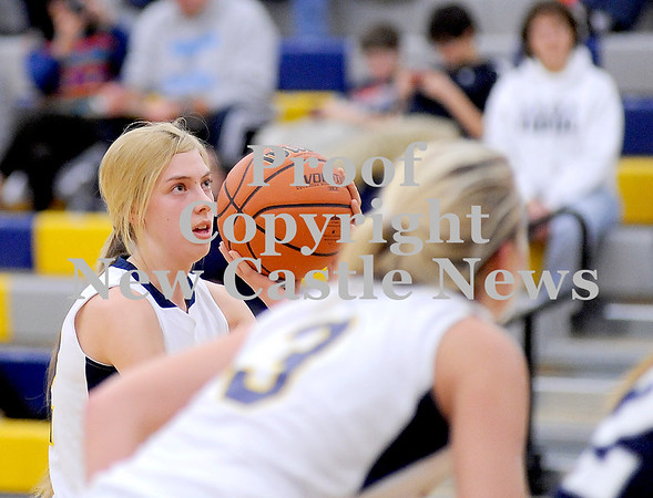 Courtney Caughey-Stambul/NEWS<br /> Tessa Sikora shoots a free throw for Wilmington.