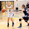 Courtney Caughey-Stambul/NEWS<br /> Wilmington's Alanna Elliott looks to make a move as Mercer's Lexie Arkwright defends.