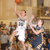 Erica Galvin/NEWS<br /> Laurel's Scott Siddall shoots a lay-up as Shenango's Josh McCormick defends.