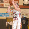 Erica Galvin/NEWS<br /> Anthony Richards makes a three-pointer in the first half.