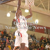 Erica Galvin/NEWS<br /> Antonio Rudolph scores two points after an alley-oop from a teammate