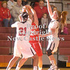 Erica Galvin/NEWS<br /> New Castle's Velvet Wade (21) and Rachael Razzano double team Neshannock's Katie Burrelli in the third quarter.