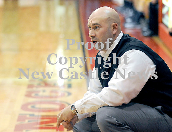 Courtney Caughey-Stambul/NEWS<br /> Neshannock coach John Corey instructs his team last night against Shenango.