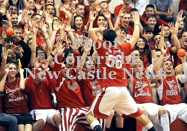 Courtney Caughey-Stambul/NEWS<br /> Neshannock fans cheer on their team last night at home against Shenango.