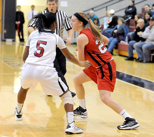 Courtney Caughey-Stambul/NEWS<br /> Mohawk's Devon Giancola looks to make a move past New Castle's Darrian Johnson.