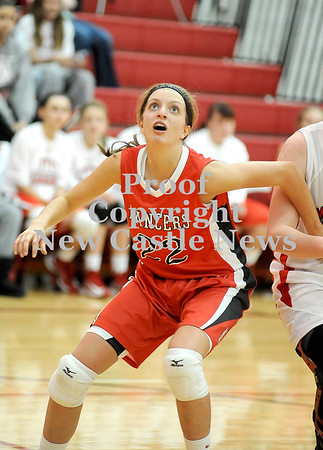 Courtney Caughey-Stambul/NEWS<br /> Neshannock's Tayler Grybowski battles for a rebound.
