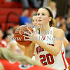 Courtney Caughey-Stambul/NEWS<br /> Mohawk senior Shelby Brown shoots a free throw.