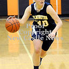 Courtney Caughey-Stambul/NEWS<br /> Wilmington senior Sarah Slonaker handles the ball for the Lady 'Hounds last night against Sharon.