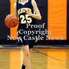 Courtney Caughey-Stambul/NEWS<br /> Hannah Drake brings the ball up the floor for Wilmington.