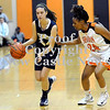 Courtney Caughey-Stambul/NEWS<br /> Wilmington's Carly Christofferson handles the ball as Sharon's Delisia Smith defends.