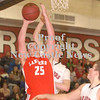Erica Galvin/NEWS<br /> Tyler Haswell goes up for a shot against the Mohawk defense.