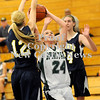 Courtney Caughey-Stambul/NEWS<br /> Laurel's Ellen Shaffer shoots the basketball against Wilmington's Tessa Sikora.
