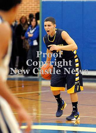 Courtney Caughey-Stambul/NEWS<br /> Shenango's Greg DePorzio calls out a play to his offense.