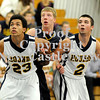 Courtney Caughey-Stambul/NEWS<br /> Shenango's Brian Tanner, center, and Wilmington's Jordan Smith, left, and Jesse Hilliard box-out for a rebound.