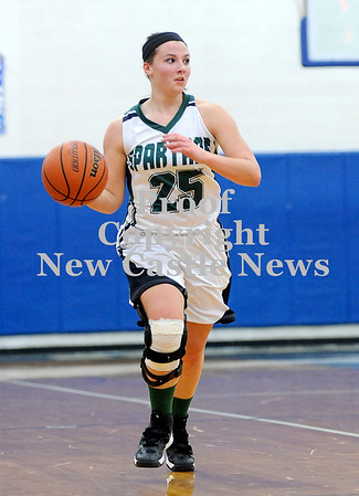 Courtney Caughey-Stambul/NEWS<br /> Rachael Baker handles the ball for Laurel.