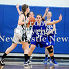 Courtney Caughey-Stambul/NEWS<br /> Union's Hannah Booth guards Laurel's Kristin Dicks.