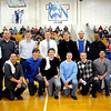 Courtney Caughey-Stambul/NEWS<br /> Union's 2003 WPIAL Class A players and coaches. Front from left: Prentiss Brown, Andrew Slater, Denny Flynn, Adam Moore, A.J. Bernstine (Statistician) and Damian Cassano. Back from left: Steve Antuono (Asst. Coach), Craig Hannon, Caleb Pardick, Steve Brenner, Bobby Bondi, Mike Conti, Chris Hunt (Manager) and Mark Stanley (Coach).