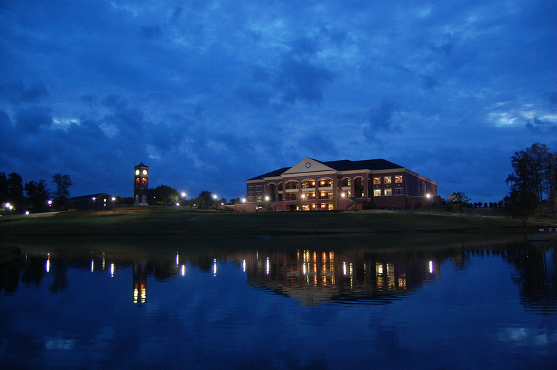 Tucker Student Center in early morning.