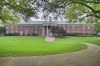General Spring Campus shot; Webb Hall 2012.