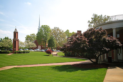 General Spring Campus shot; Webb Hall 2012.