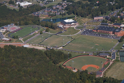 Aerial shots of campus; Gardner-Webb 2012.