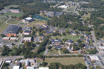 Aerial shots of campus; Gardner-Webb 2012.