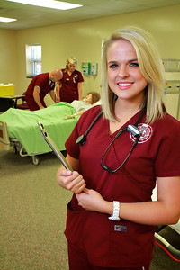 Nursing Photos inside the North Main Street Lab; Spring 2012.