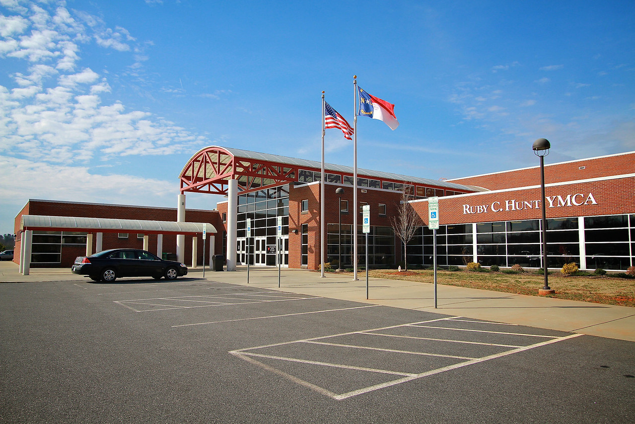 Photos of notable places in Boiling Springs and Shelby near Gardner-Webb University.  Ruby Hunt YMCA.