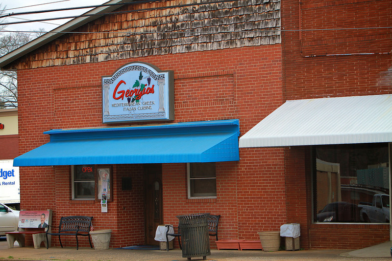 Photos of notable places in Boiling Springs and Shelby near Gardner-Webb University.  Georgio's