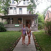 Meghan & Lexi in front of Hemingway's birth home in Oak Park