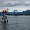 Starboard mark #56 coming out of Wrangell Narrows into Petersburg.