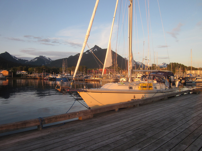 At the public dock in Sitka, Alaska.