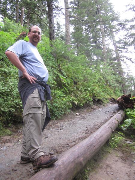 Matt conquering the crap out of Mt. Roberts.