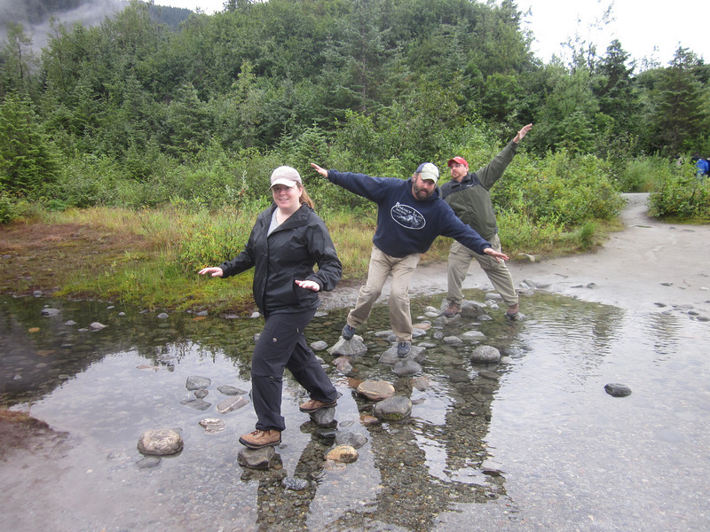 The path to the Mendenhall Glacier was fraught with peril.