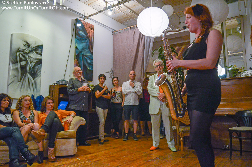 Interlude 1 with Alison Young, Jaymz Bee & Babra Lica @ Underground Art Party @ Loft 404, Toronto, ON, 3-September 2012