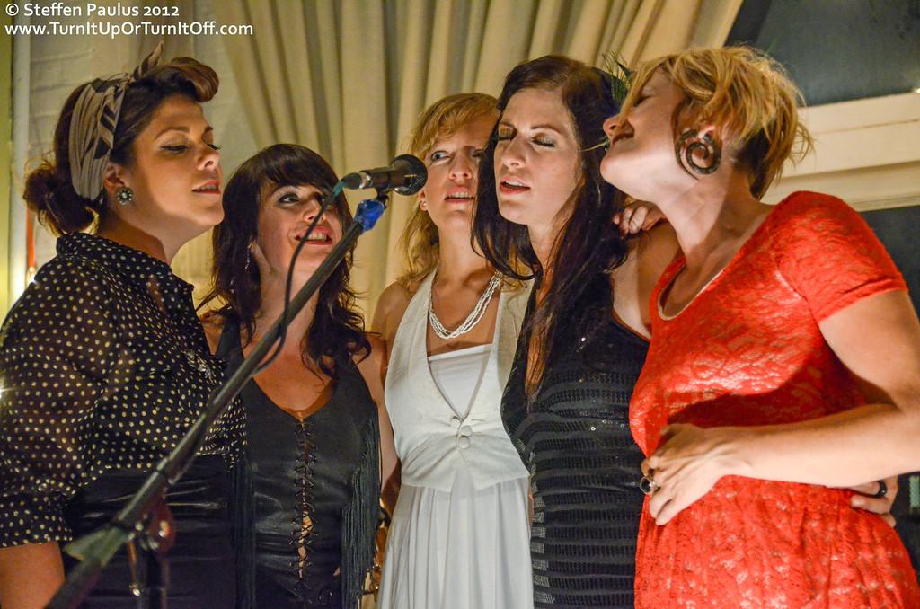 Mel Brulee, Cindy Doire and Andrea Ramolo join Faye Blais & Sarah Burton @ Underground Art Party @ Loft 404, Toronto, ON, 3-September 2012