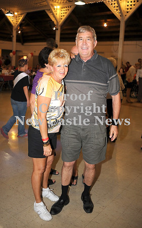 Courtney Caughey-Stambul/NEWS<br /> Jan Smith and Tom Adams take a break from dancing at Polish Day.