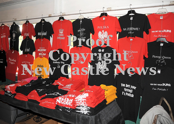Courtney Caughey-Stambul/NEWS<br /> A wide selection of Polish apparel is available for sale at Polish Day.
