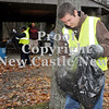 Courtney Caughey-Stambul/NEWS<br /> Justin McFarland assists in Saturday's clean-up effort.